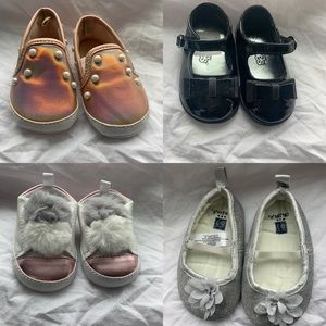 4 pars if shoes for baby girl.